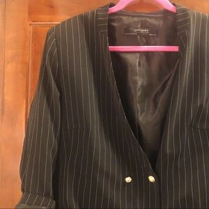Zara Pin Stripped Blazer